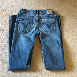 LEVI Skinny Blue Jeans, sz 9/10